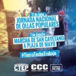 JORNADA NACIONAL DE OLLAS POPULARES y MOVILIZACIONES EN TODO EL PAÍS